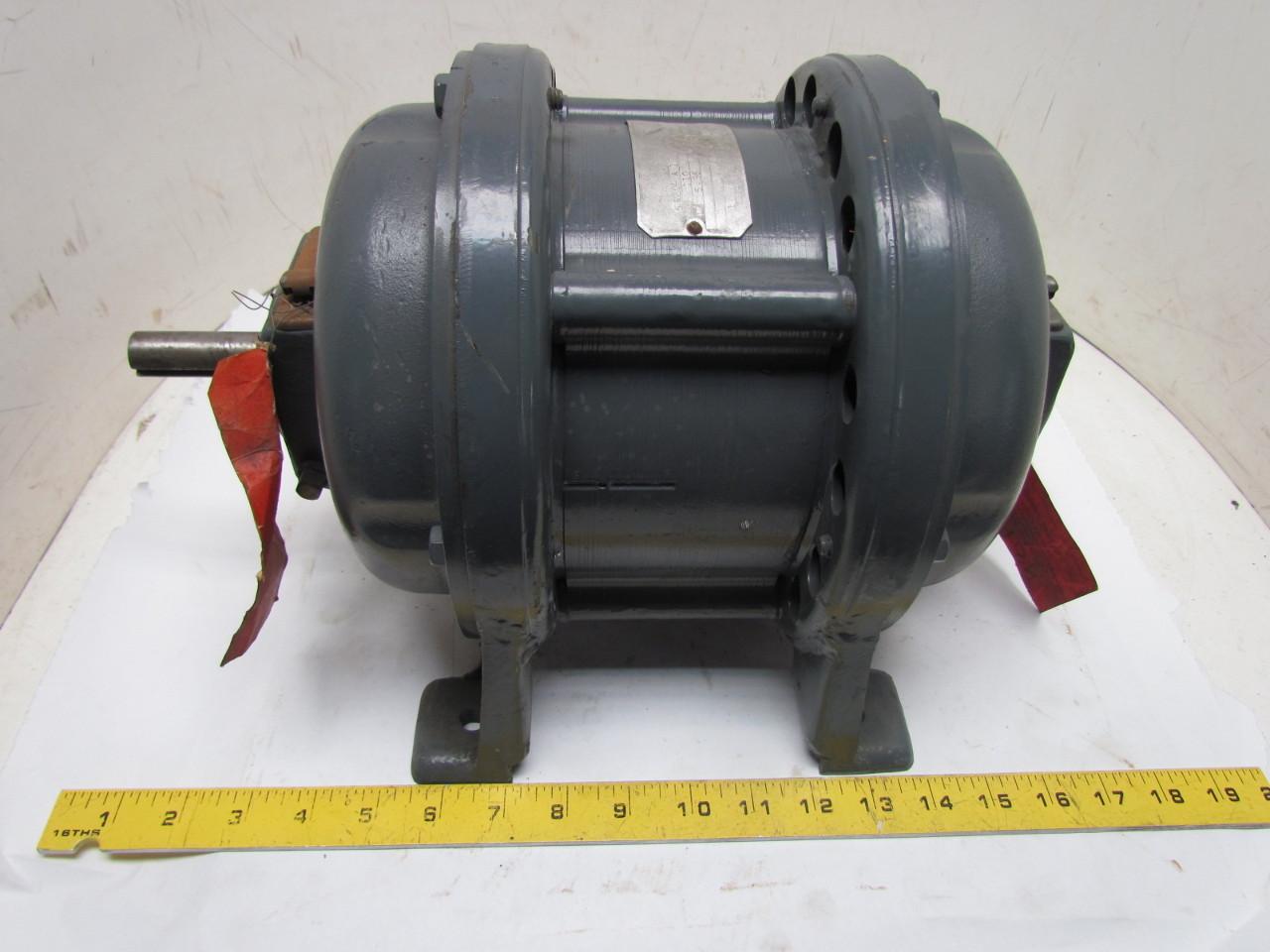 General Electric 5k204a1 3ph 1hp 110v Vintage Motor 1720