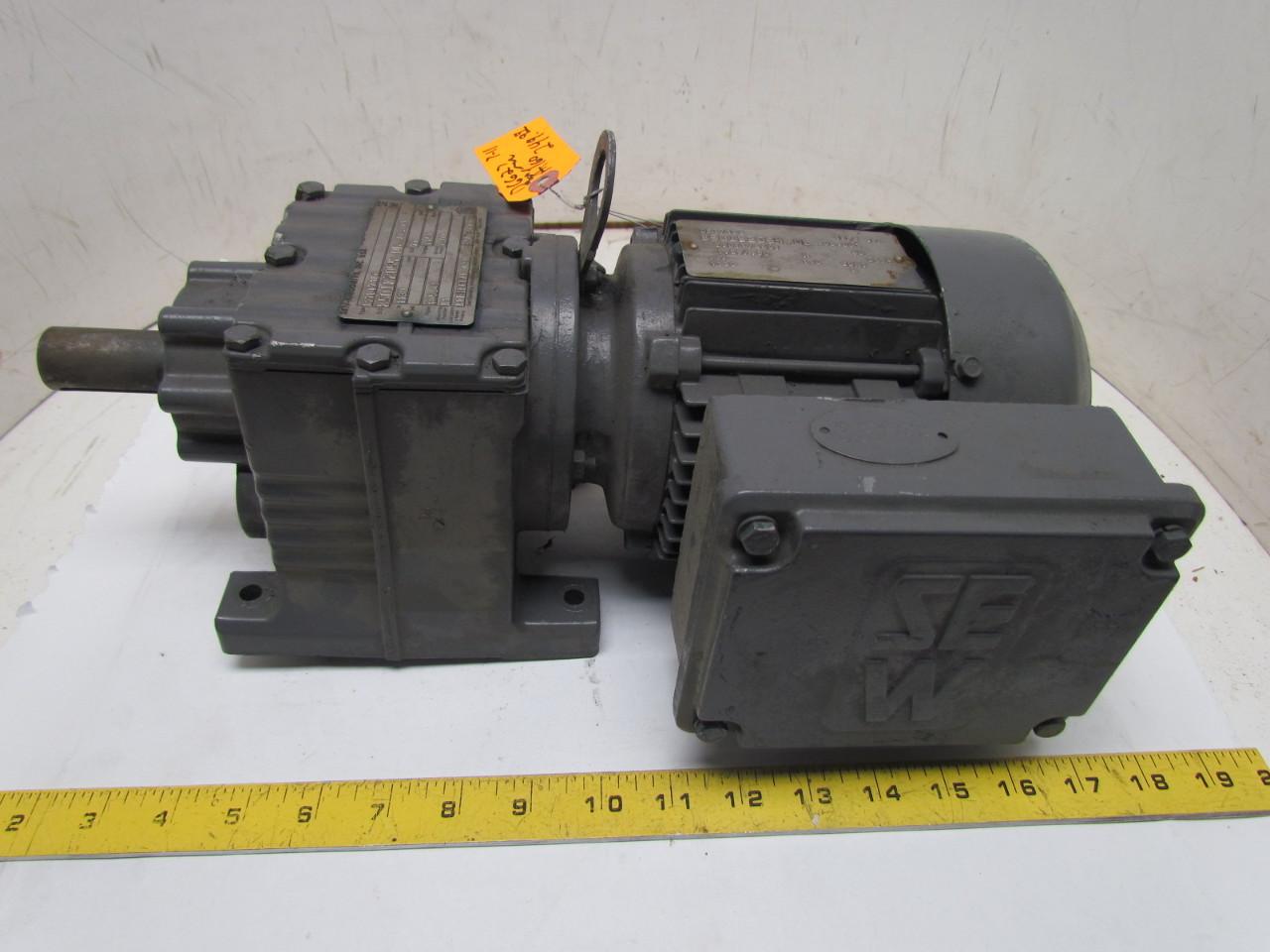 Sew eurodrive dft71d6 3 phase gear motor 33hp 1130 rpm 230 for Sew eurodrive gear motor