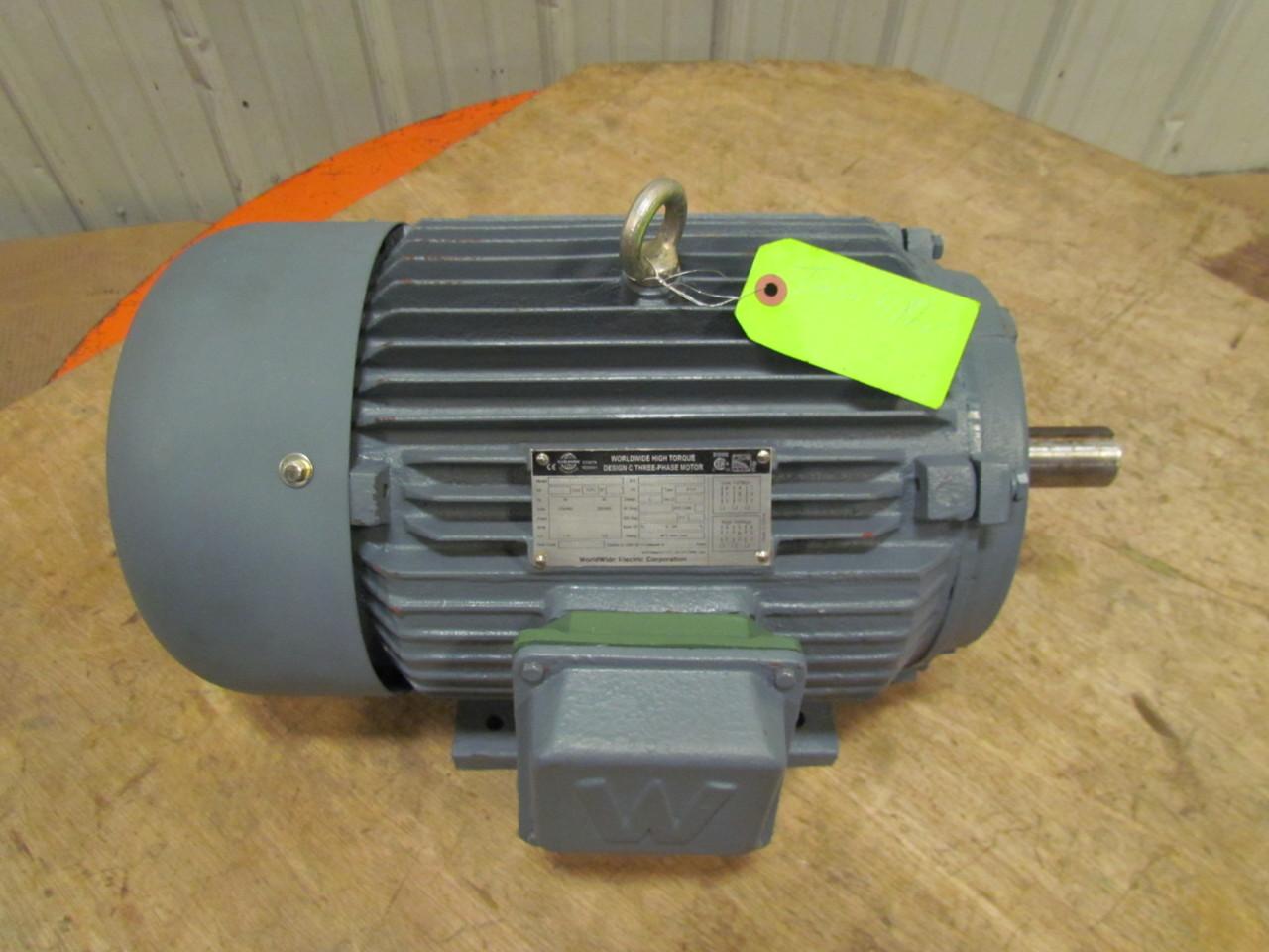 Worldwide Wwht10 18 215t 3ph 10hp Electric Motor 1760 1470