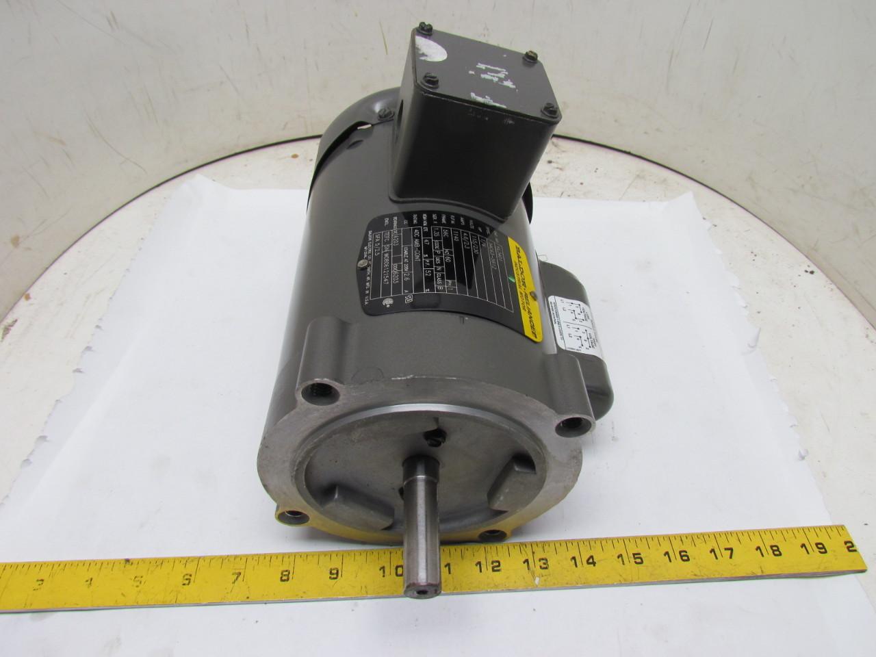 Baldor reliance kl3401 single phase electric motor 1 6hp for Baldor 2 hp single phase motor