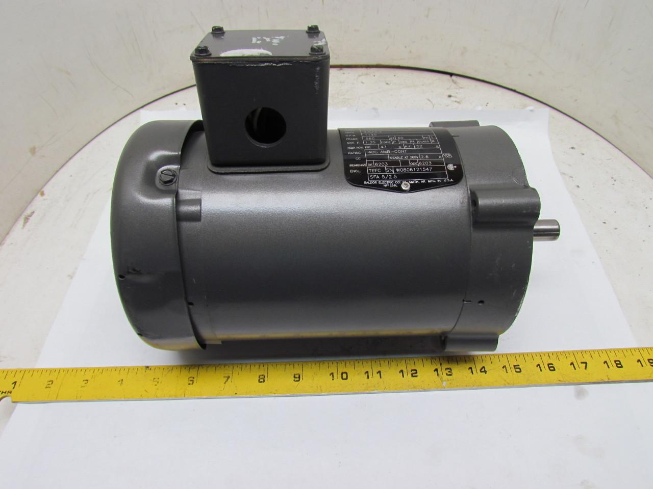 Baldor Reliance Kl3401 Single Phase Electric Motor 1 6hp