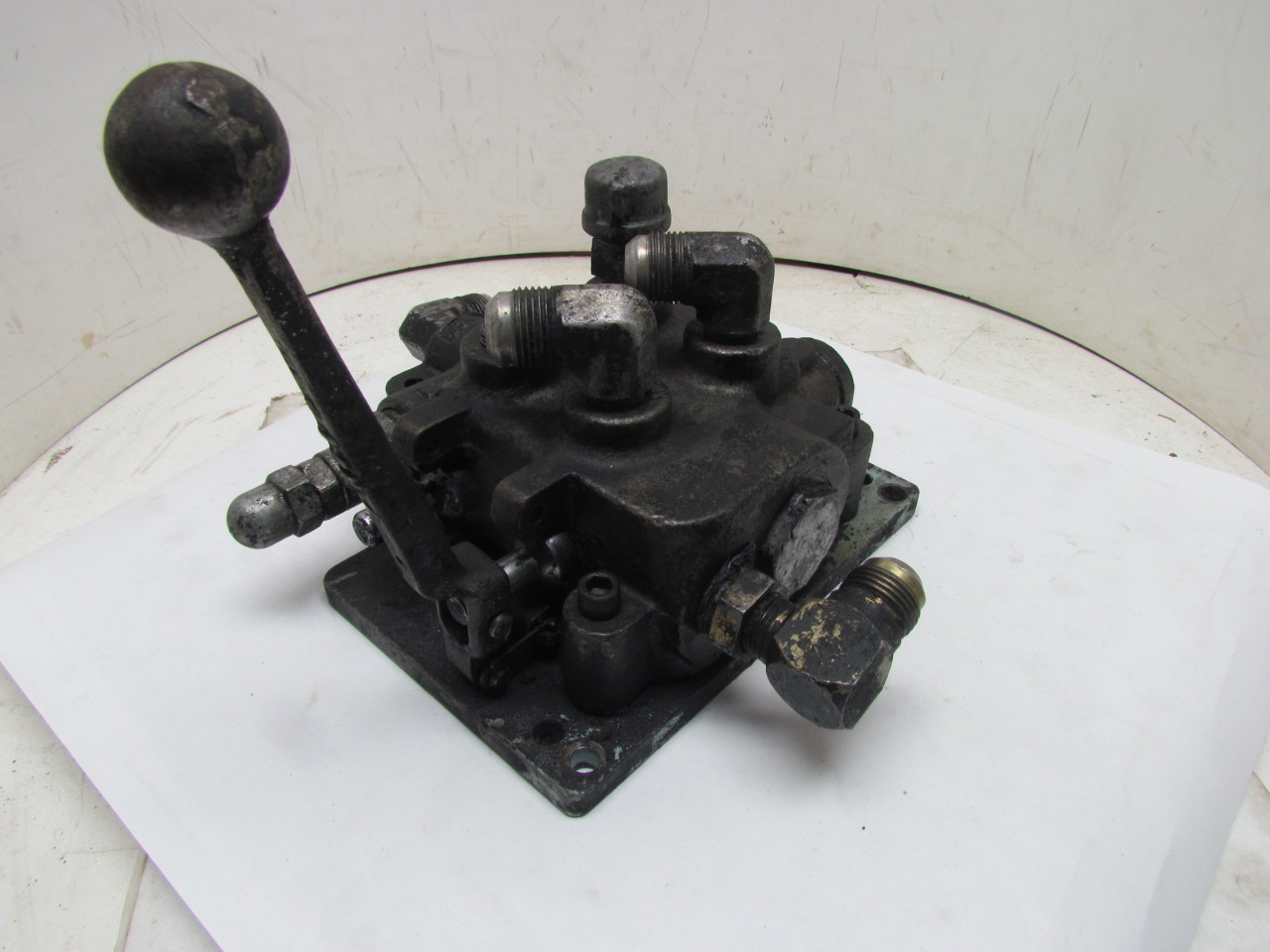 Gresen Hydraulic Valve Lever : Gresen double spool manual lever operated hydraulic
