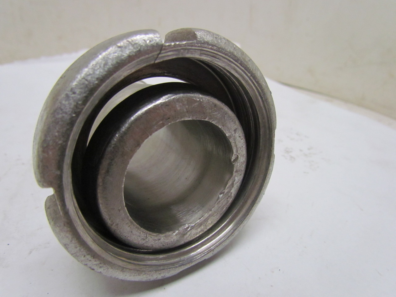 Stainless steel hose adapter fitting quot bevel seat nut