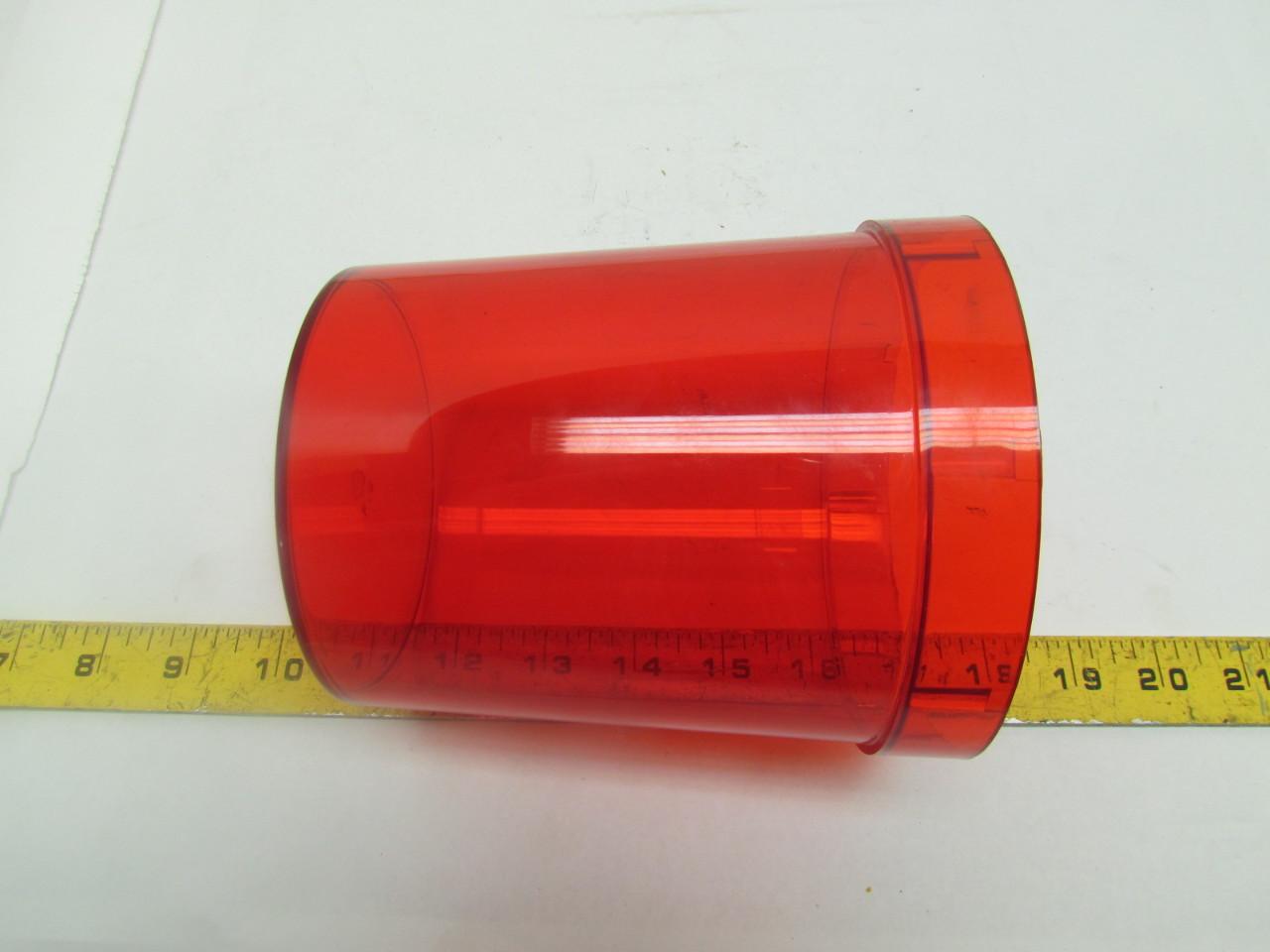 Snow Plow Light Lenses : Replacement lens dome light cover snow plow caution red