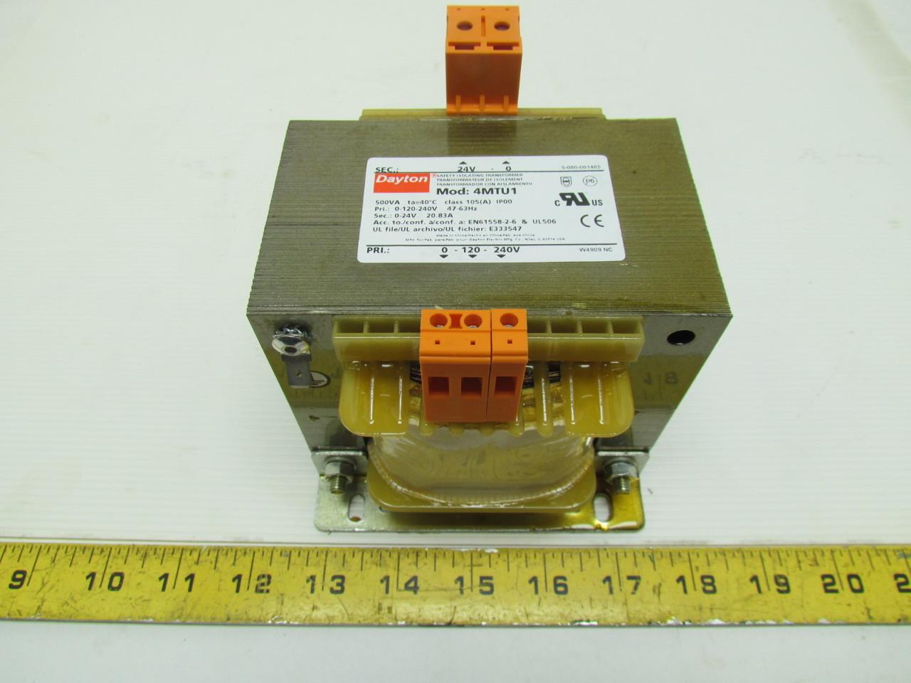 Dayton 4mtu1 Isolating Transformer In 120