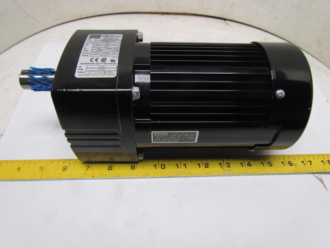 Bodine Electric 42r6bfpp F2 Inverter Duty Gearmotor 420v 3