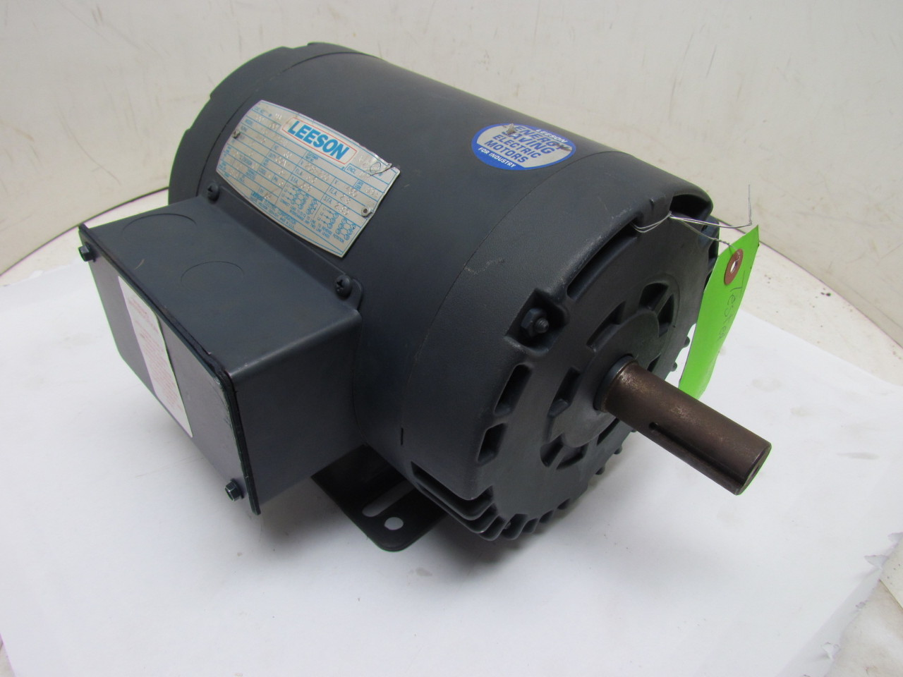 Leeson c145t17db1e 3ph electric motor 1 5hp 1740 rpm 208 for 5hp 3ph electric motor