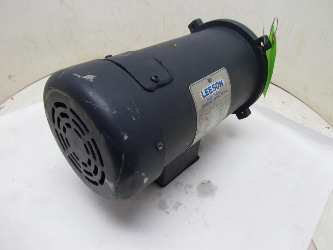 Leeson C42d17fk1a 90vdc Motor 1 2hp 1750 Rpm