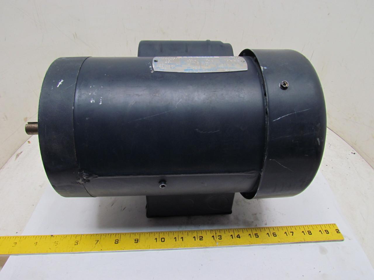 Leeson c6k17fc2j 1ph single phase electric motor 1 5hp for 15 hp single phase motor