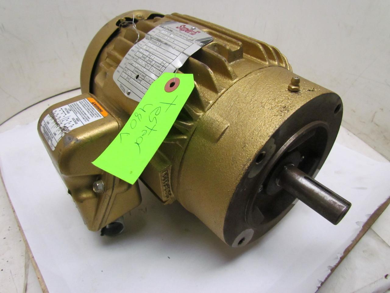 Baldor Vem3581t Super E 3 Phase Electric Motor 1hp 1750