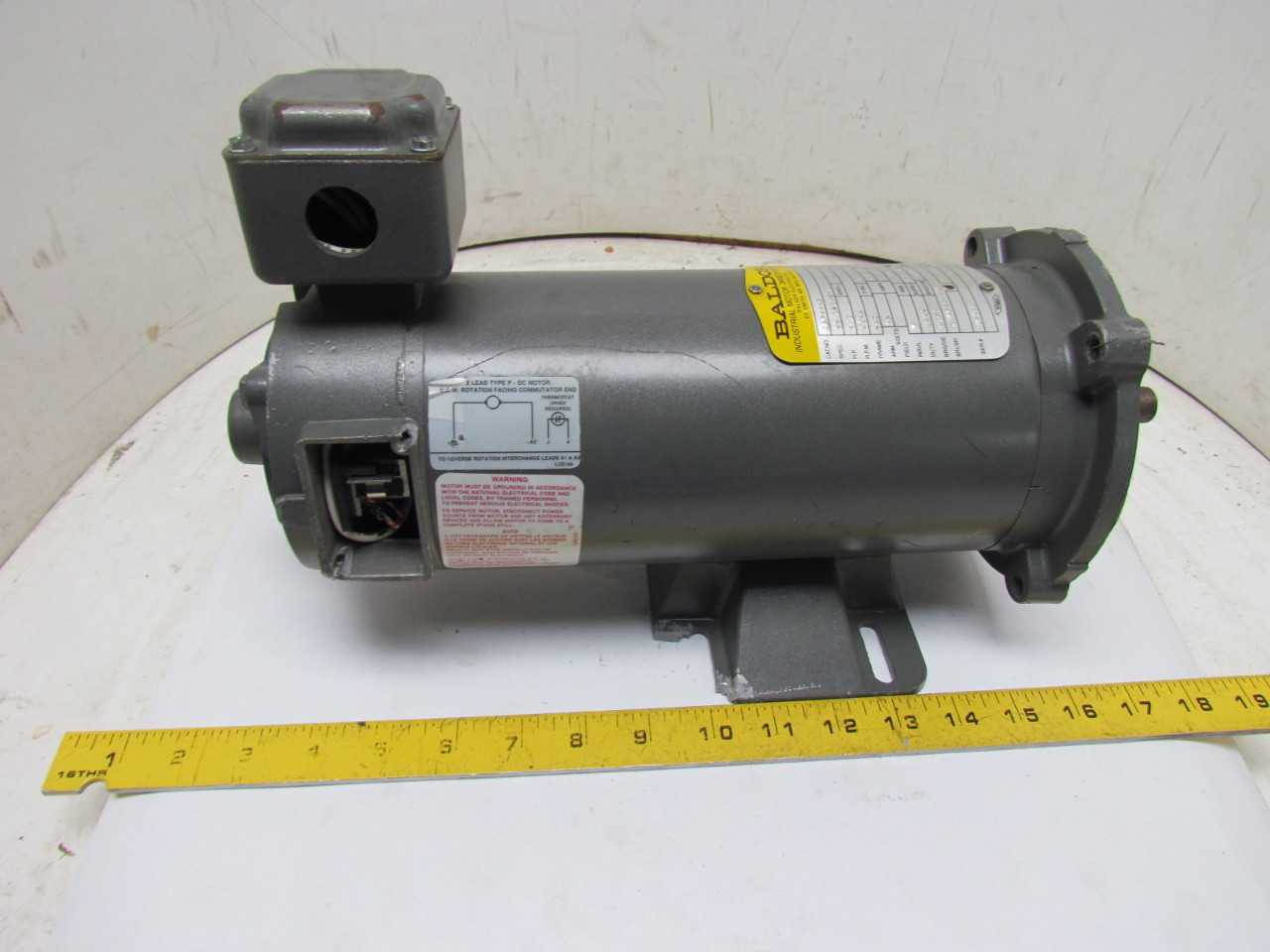 Baldor cdp3330 33 2024z122 90v dc motor 1 2hp 1750 rpm pm336p parts or repair ebay Baldor motor repair