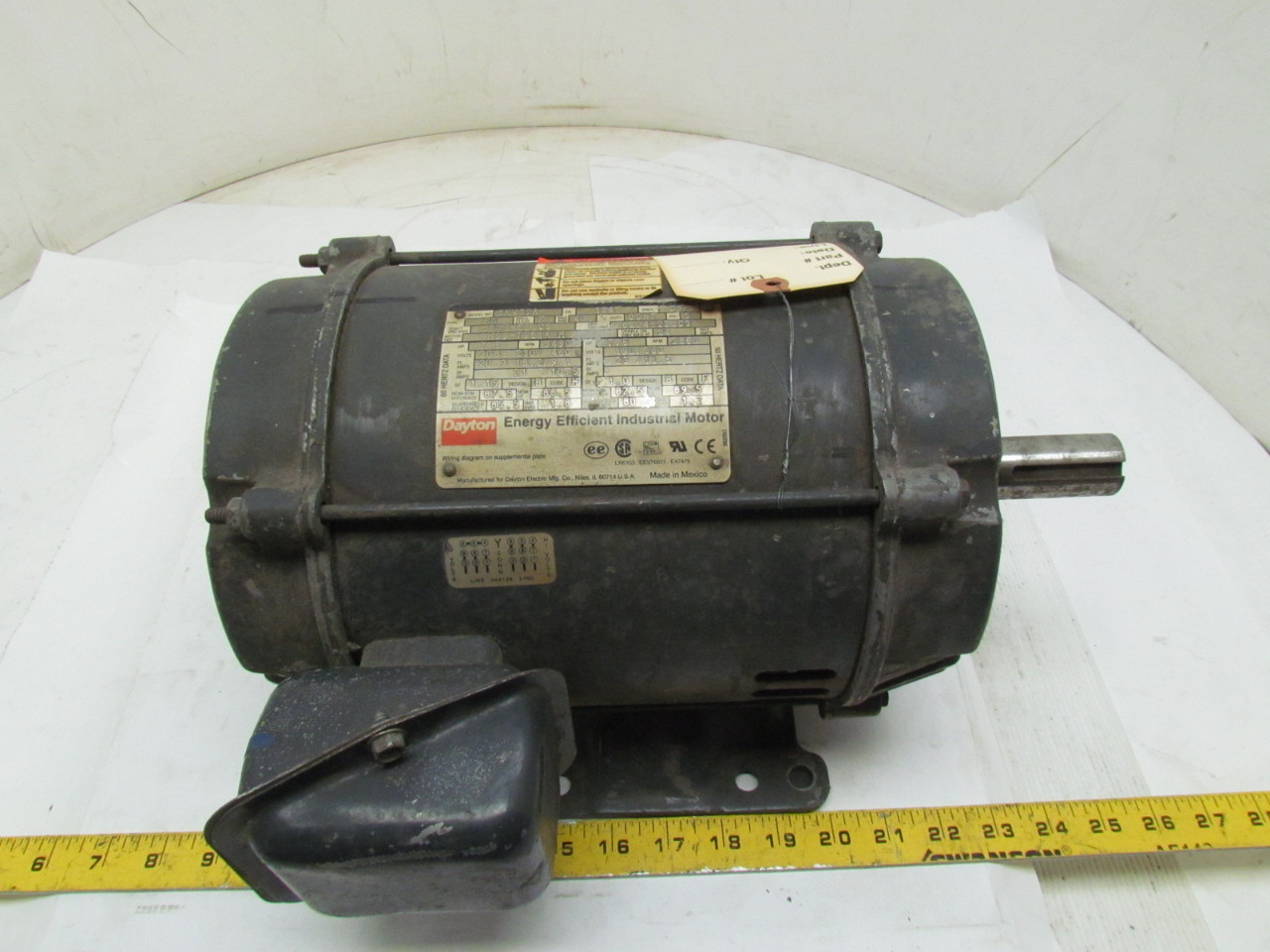 Dayton 3kw39a 3ph electric motor 7 5hp 3490 2850 rpm 208 for 5hp 3ph electric motor