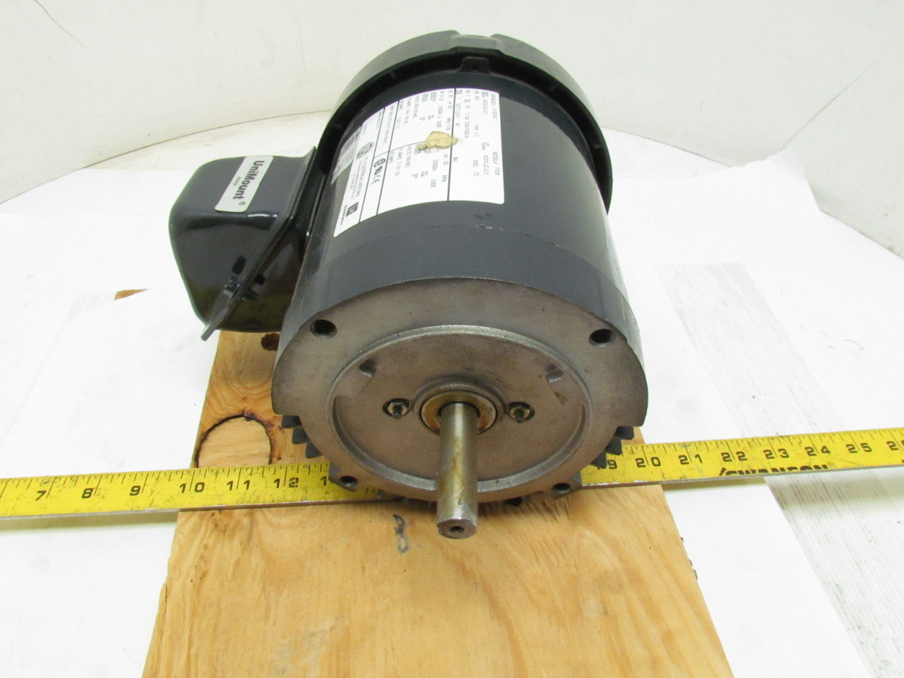 Us motors u12s2ac 3 phase electric motor 50hp 1745 rpm for 56c frame motor dimensions