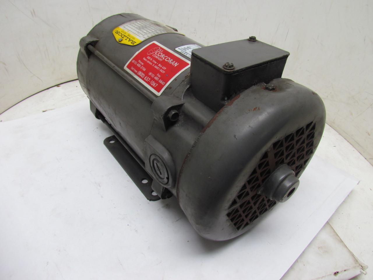 Baldor Cdp3580 35p432z183 180v Dc Motor 1 5hp 2500 Rpm