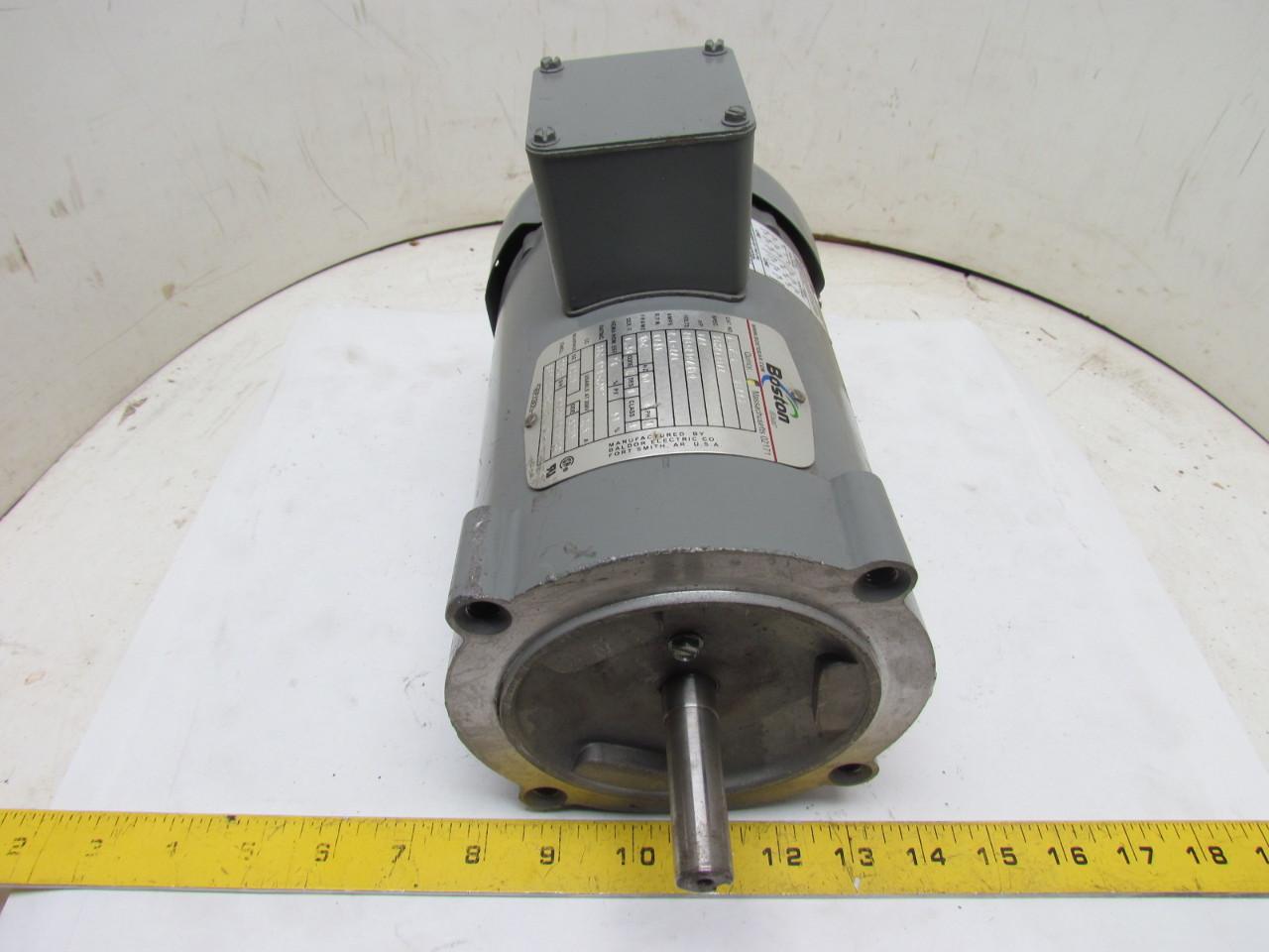 Boston Gear Futf B 66223 3 Phase Electric Motor 1 2hp 1725