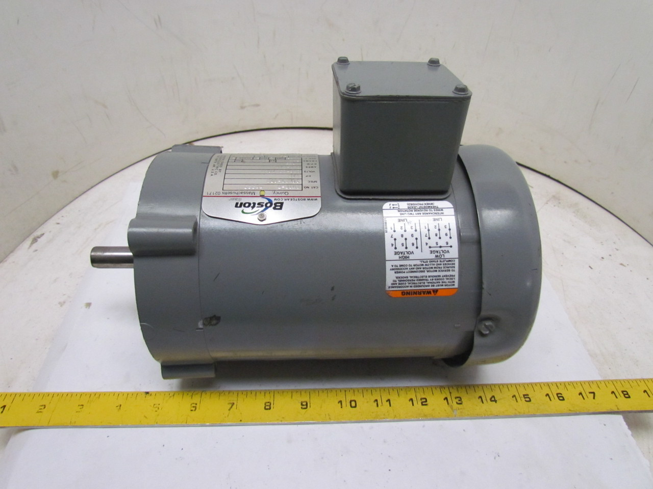 Boston gear futf b 66223 3 phase electric motor 1 2hp 1725 for 3 phase dc motor