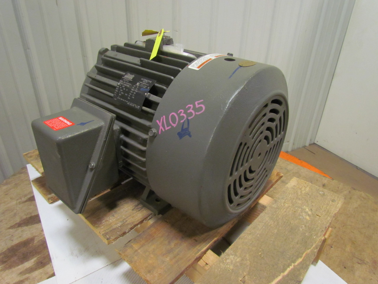 Lincoln Lm23732bb 3 Phase Electric Motor 5hp 460v 1175 Rpm