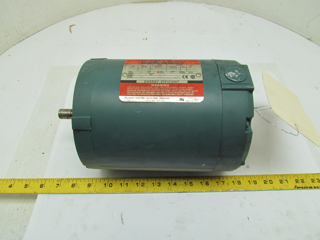 Reliance electric p56x1337t ka motor 3 4hp 3ph 1725rpm for Reliance dc motor frame size chart
