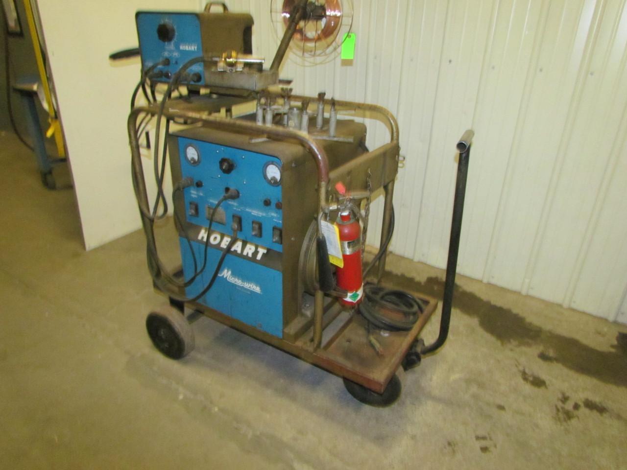Hobart micro wire mc 300 300a dc welder 15hp 3ph 220 440v for Hobart welder wire feed motor