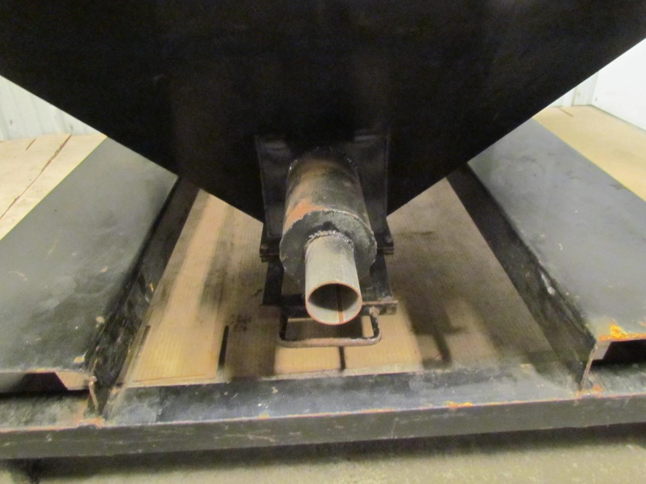 Slide gate hopper bottom bearings