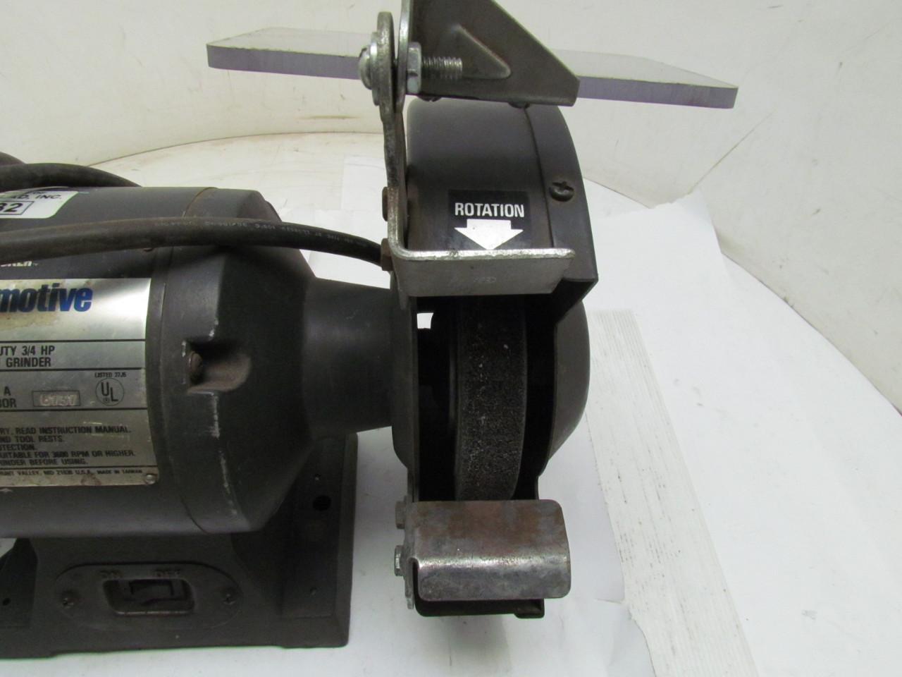 Black Amp Decker Automotive Heavy Duty Bench Grinder 3 4hp 8