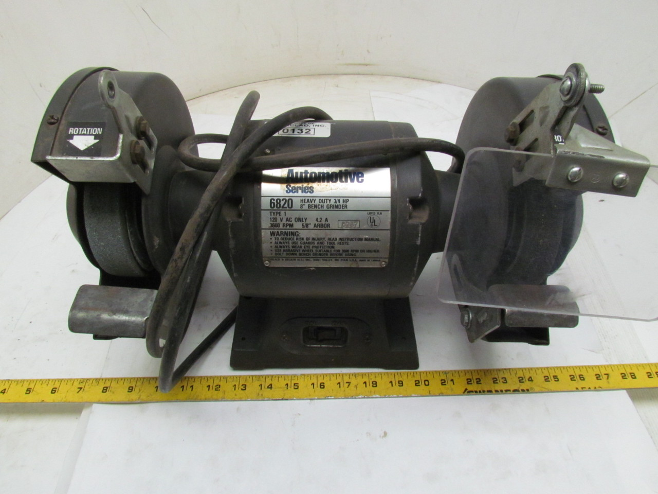 Black Decker Automotive Heavy Duty Bench Grinder 3 4hp 8 120v Double Wheel Ebay
