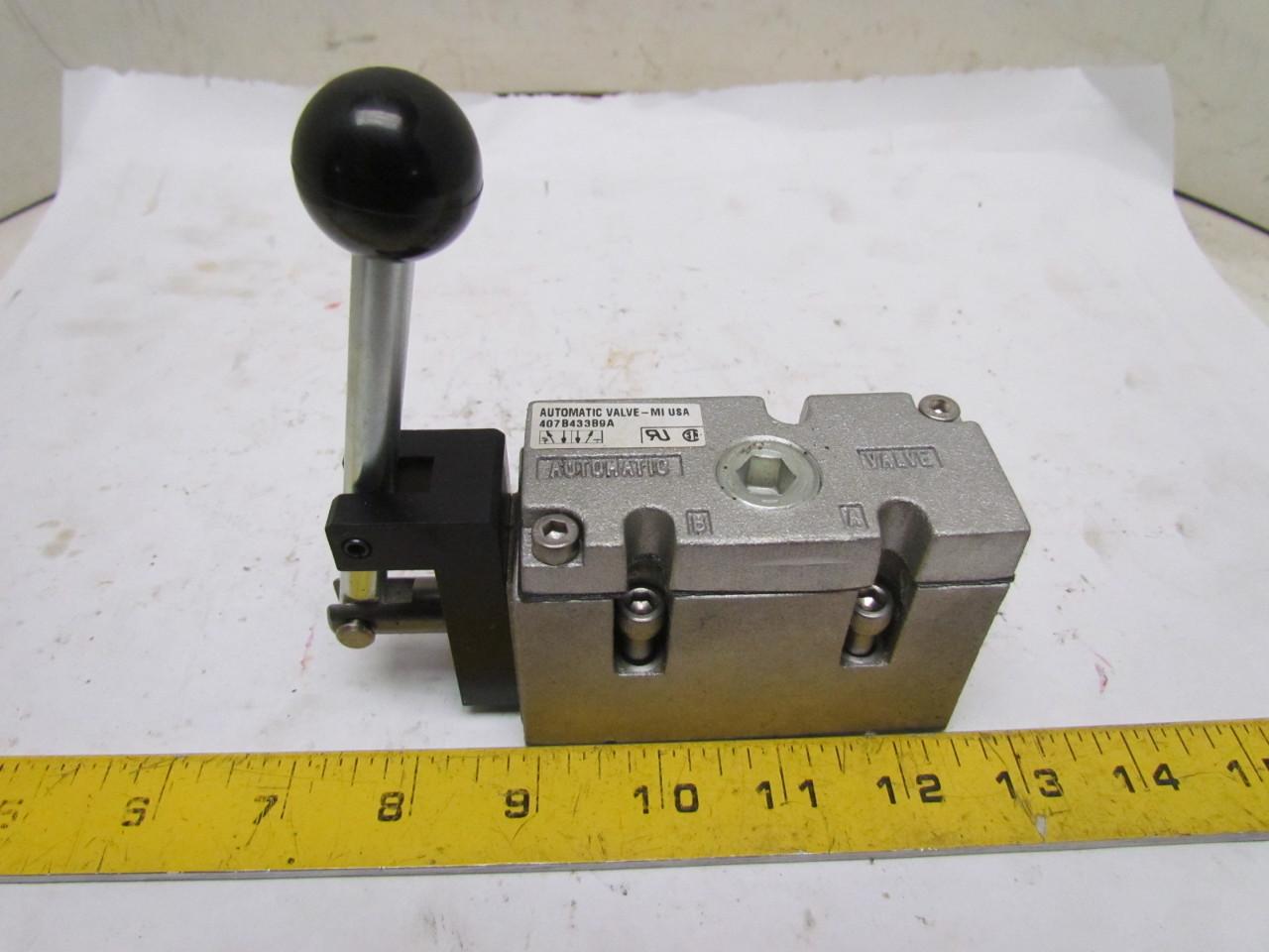 Pneumatic Lever Valve : B a position air pneumatic sae spool
