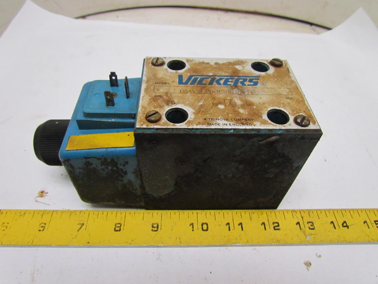 Vickers DG4V-5-2B-MU-EK6-20 Hydraulic Directional Control Valve 115VAC