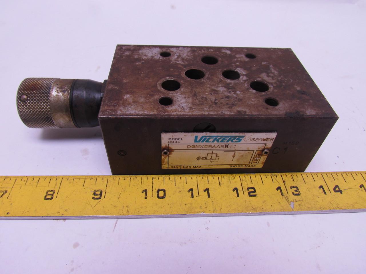 Vickers DGMXC5AABK11 Pressure Reducing Hydraulic Valve NO Key