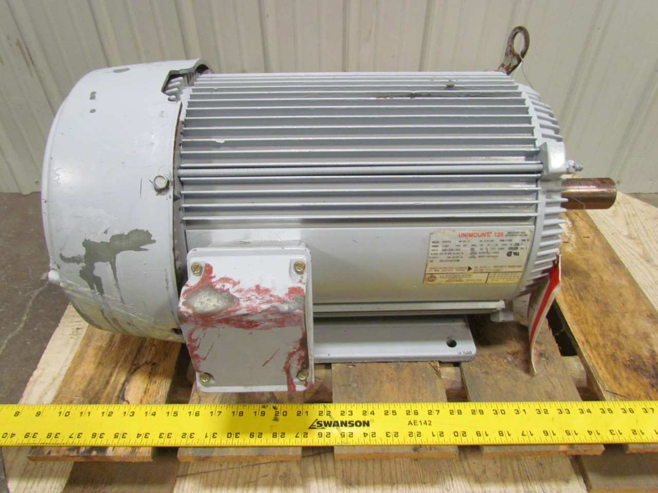 Us electric a939a 20 hp 1765 rpm tefc 256t frame 208 230 for 20 rpm electric motor