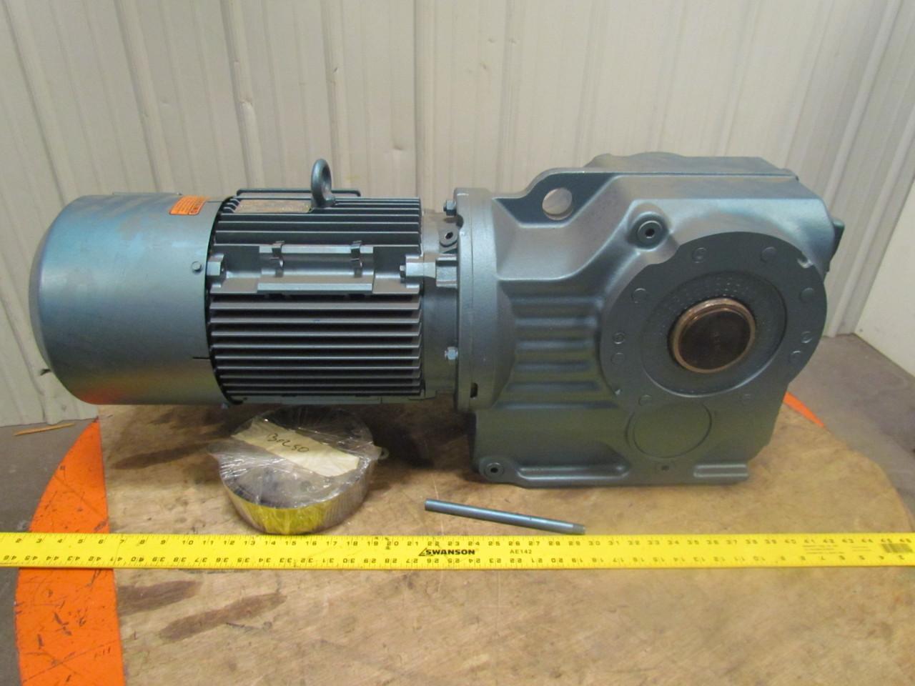 Sew Eurodrive Dfv132m8 4bm15hr Motor Gearbox Speed Reducer