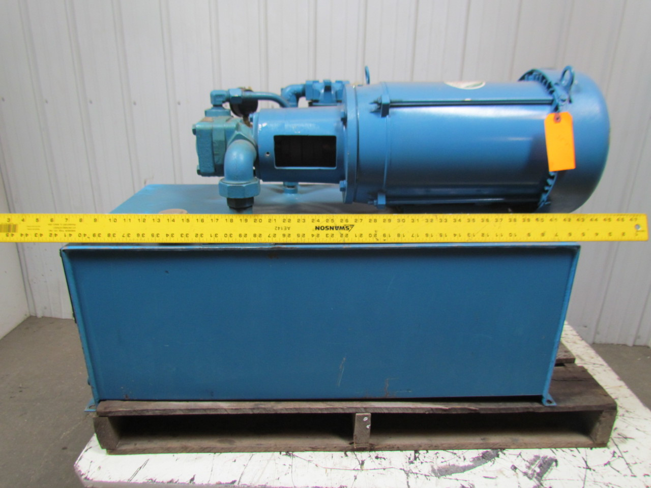 Vickers V20-1P7P-1D-11 Fixed Displacement 30 Gal Hydraulic Power Unit 10HP 3PH