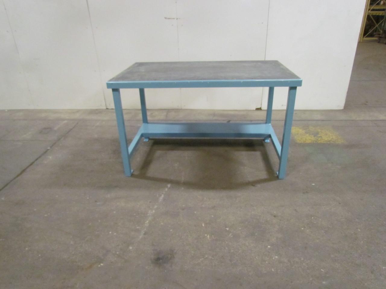 1 4 Formed Steel Work Bench 36 X60 X35 1 2 Tall W Shelf