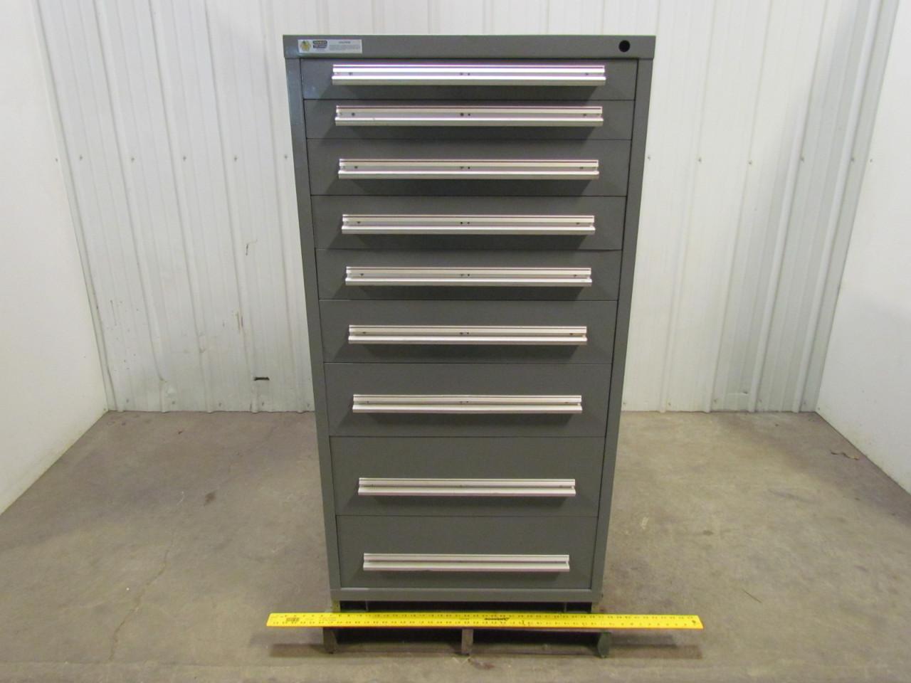 Stanley Vidmar 9 Drawer Industrial Parts Tool Storage Shop