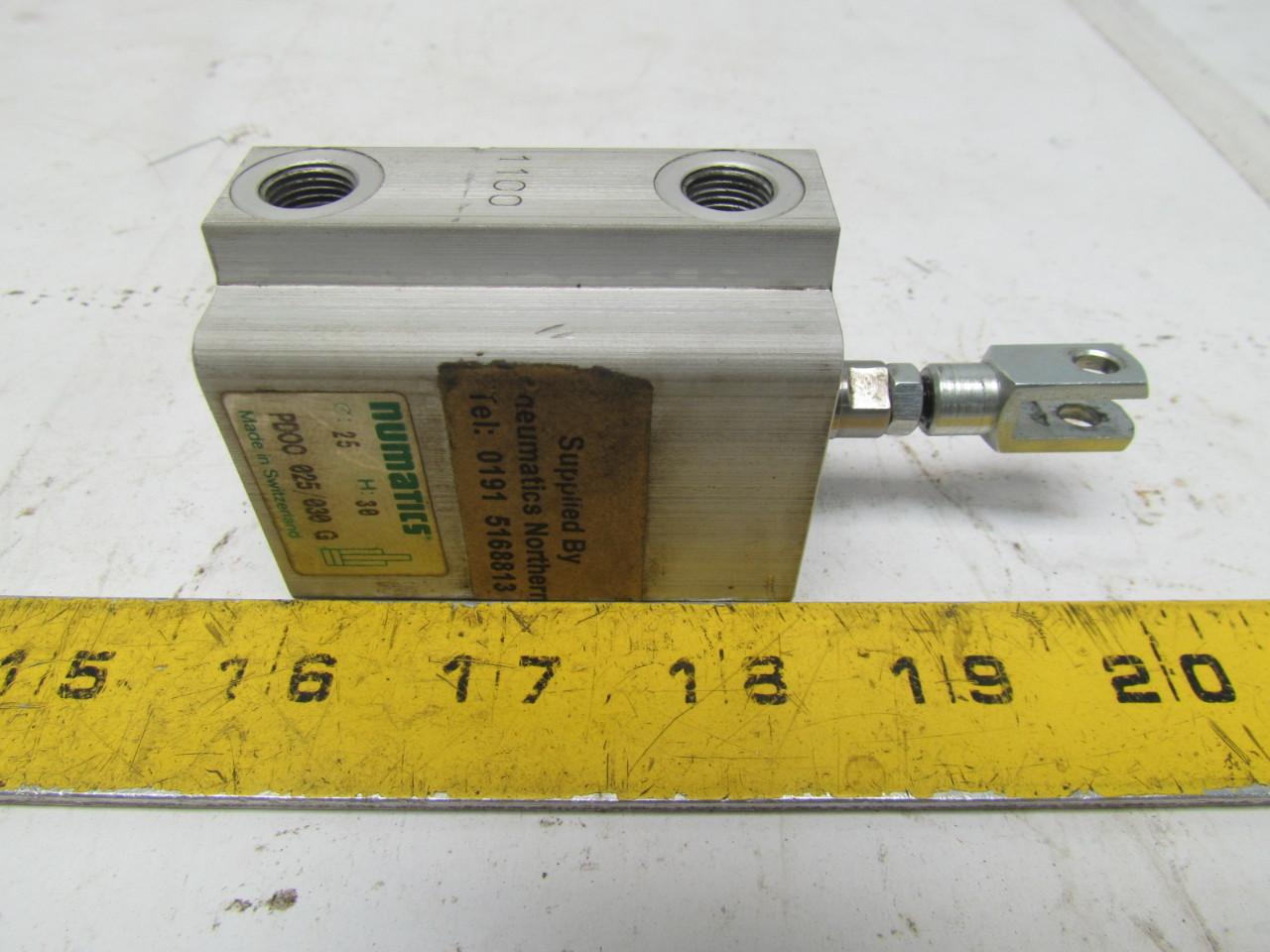 Numatics PDOO 025/030 Pneumatic Air Cylinder 30mm Stroke ...