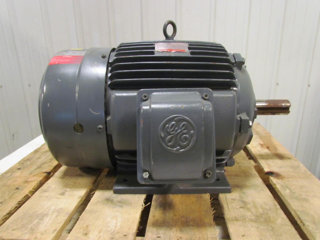 Ge 5ks284bct205 energy saver 25hp electric motor 230 460v for 25 hp dc motor