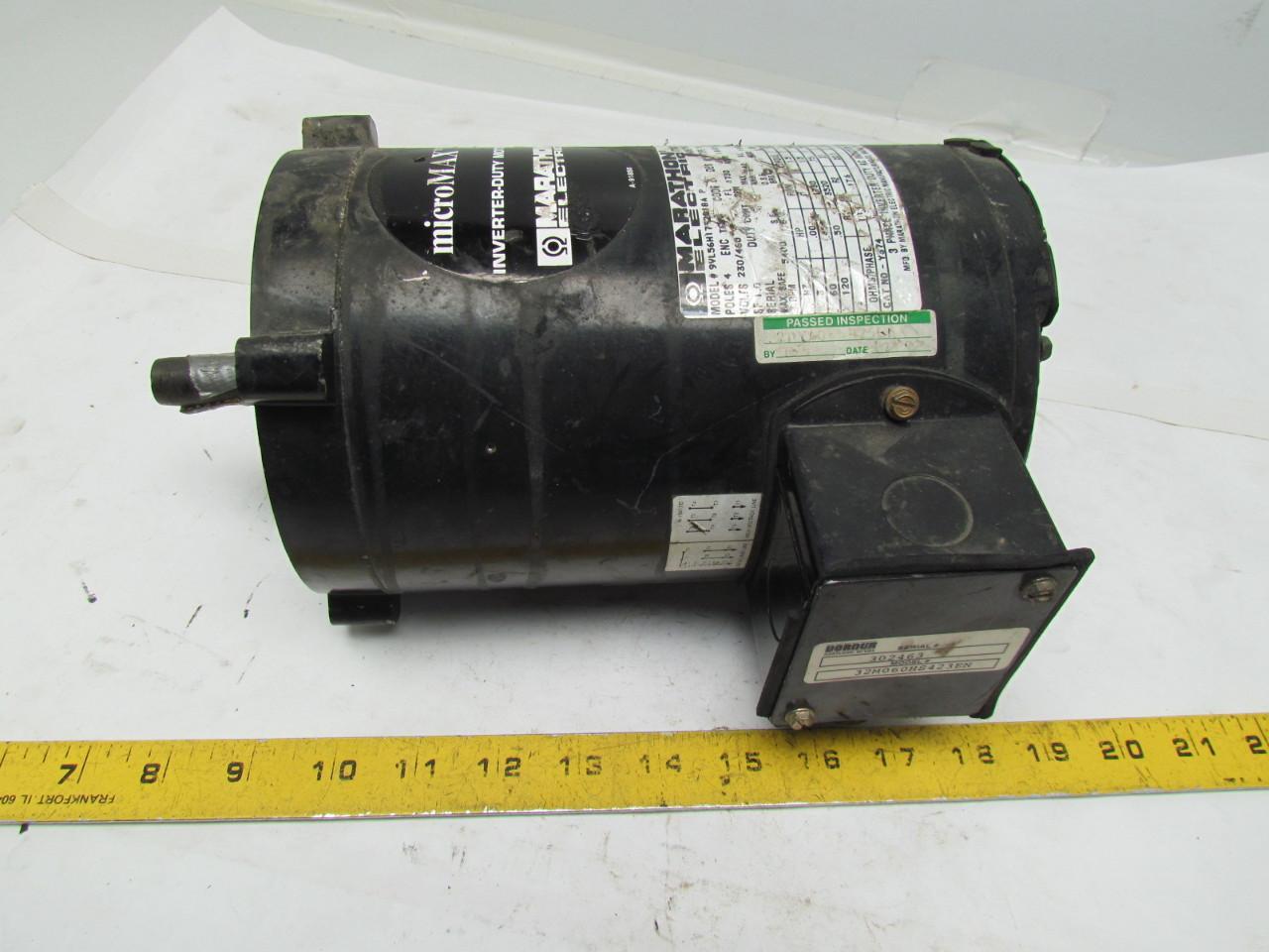 Marathon 9vl56h17t2018a Micromax Inverter Duty Motor
