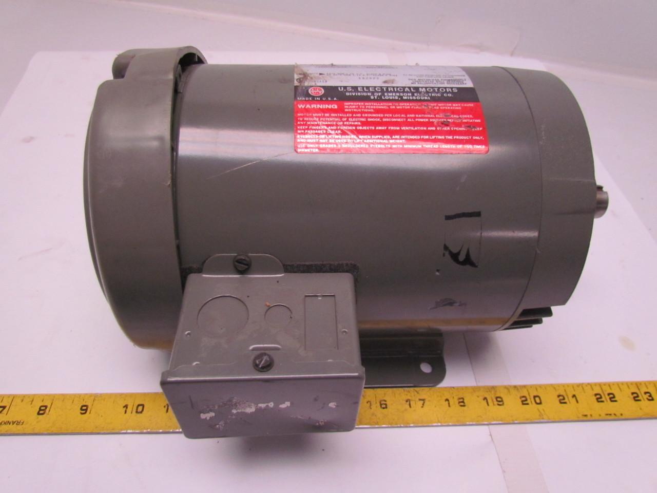 Us Motors P63csg 2914 Unimount 125 3 Phase Ac Motor 1 5hp