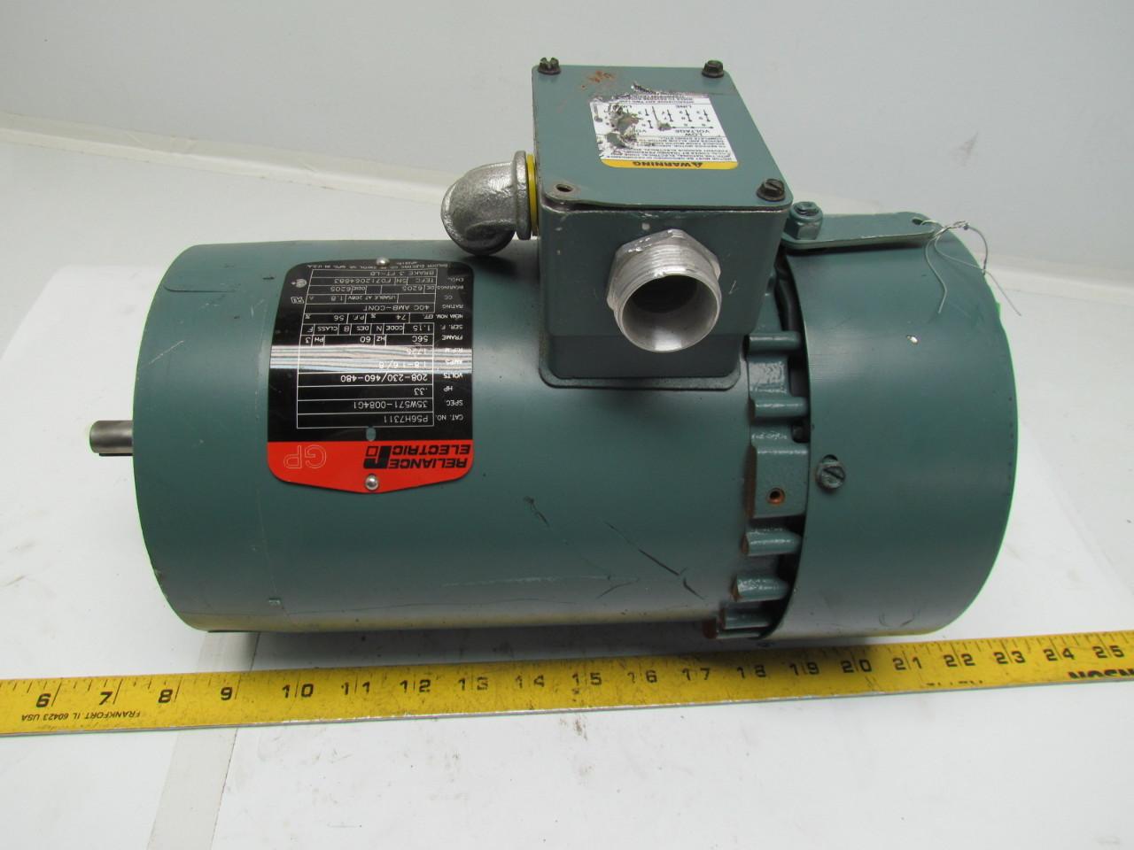 Reliance Electric P56h7311 3ph Motor 33hp 1725rpm 208 230