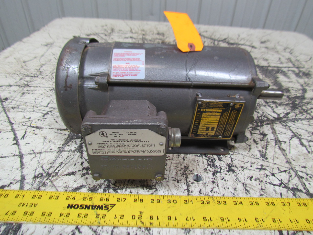 baldor m7035t 1 5hp electric motor explosion proof 3ph