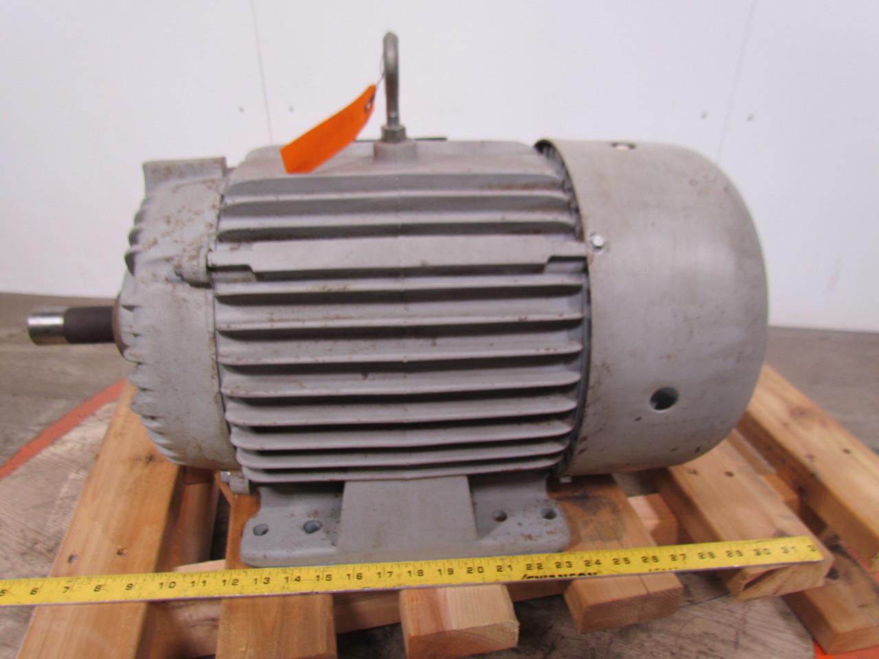 Delco e2 fg3104 electric motor 7 5hp 3ph 460v 1770rpm 254u for 5hp 3ph electric motor