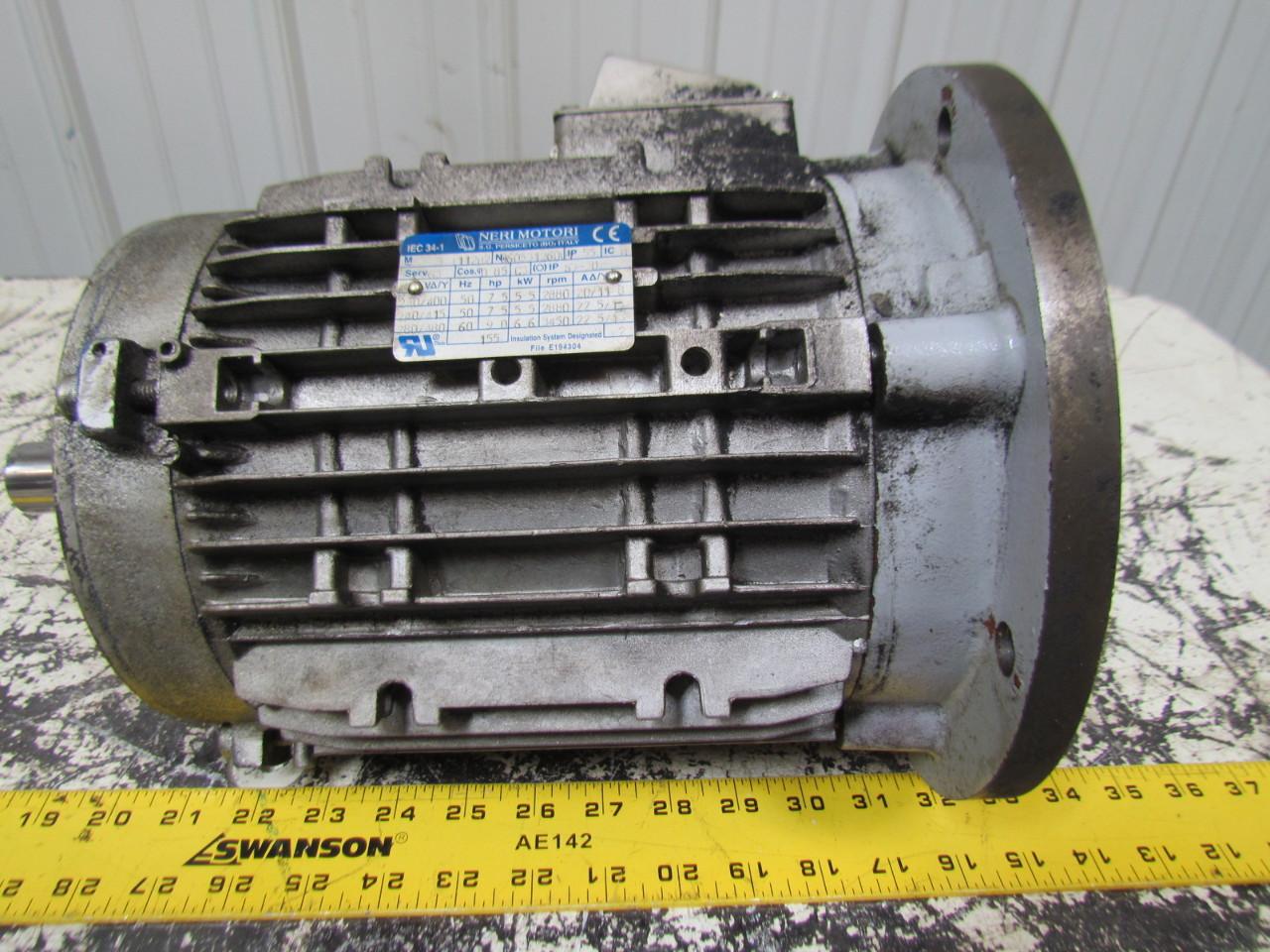 Neri motori 9hp 3450rpm 280 480v 3ph 28mm shaft 34 1 frame for 9 hp electric motor