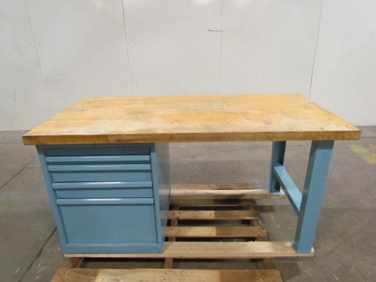 butcher block work bench 60 quot wx30 5 16 quot dx29 1 2 quot h 22 1 2 quot w