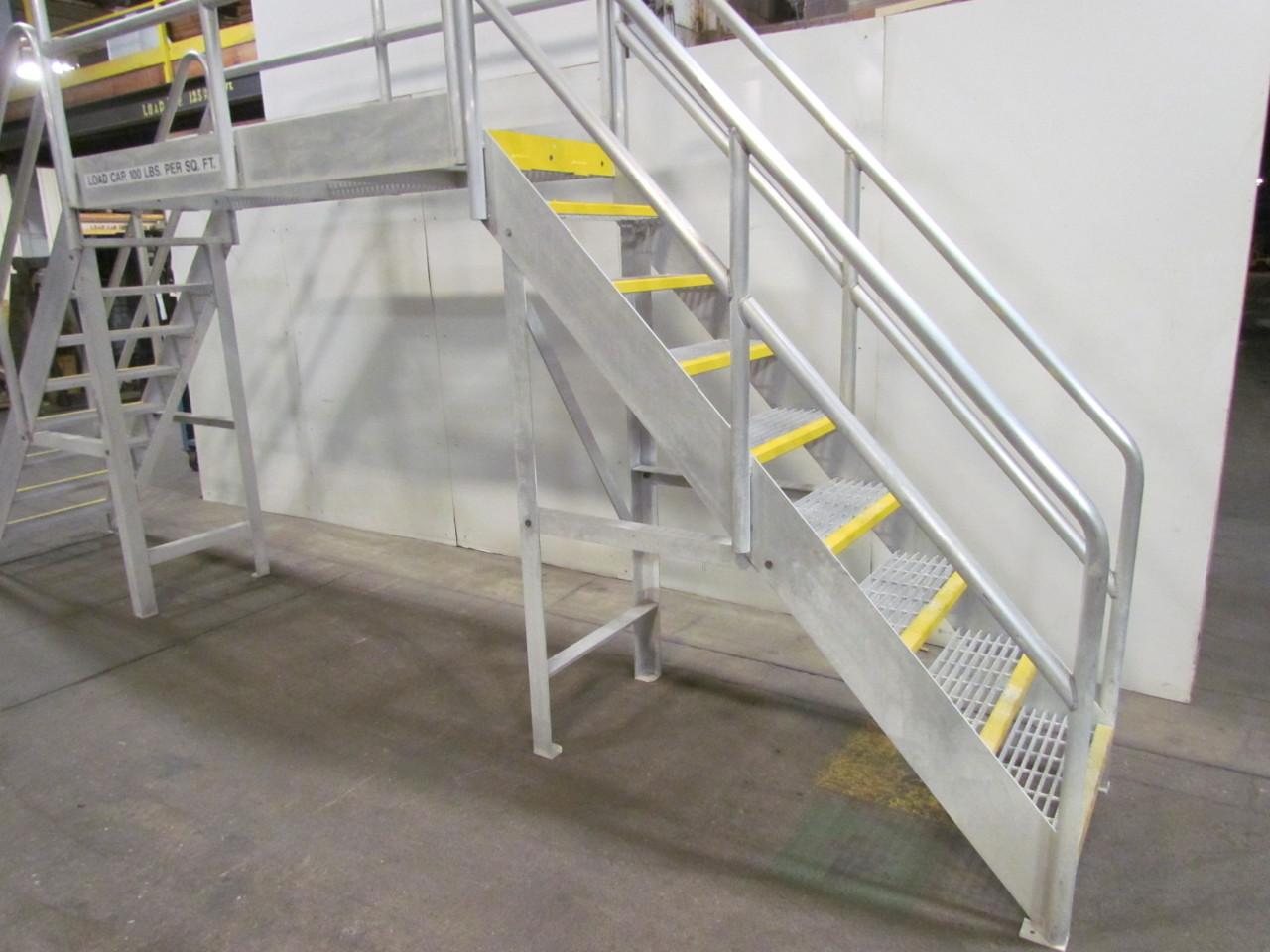 Aluminum Scaffold Stairs : Bustin quot wide step aluminum ladder vertical