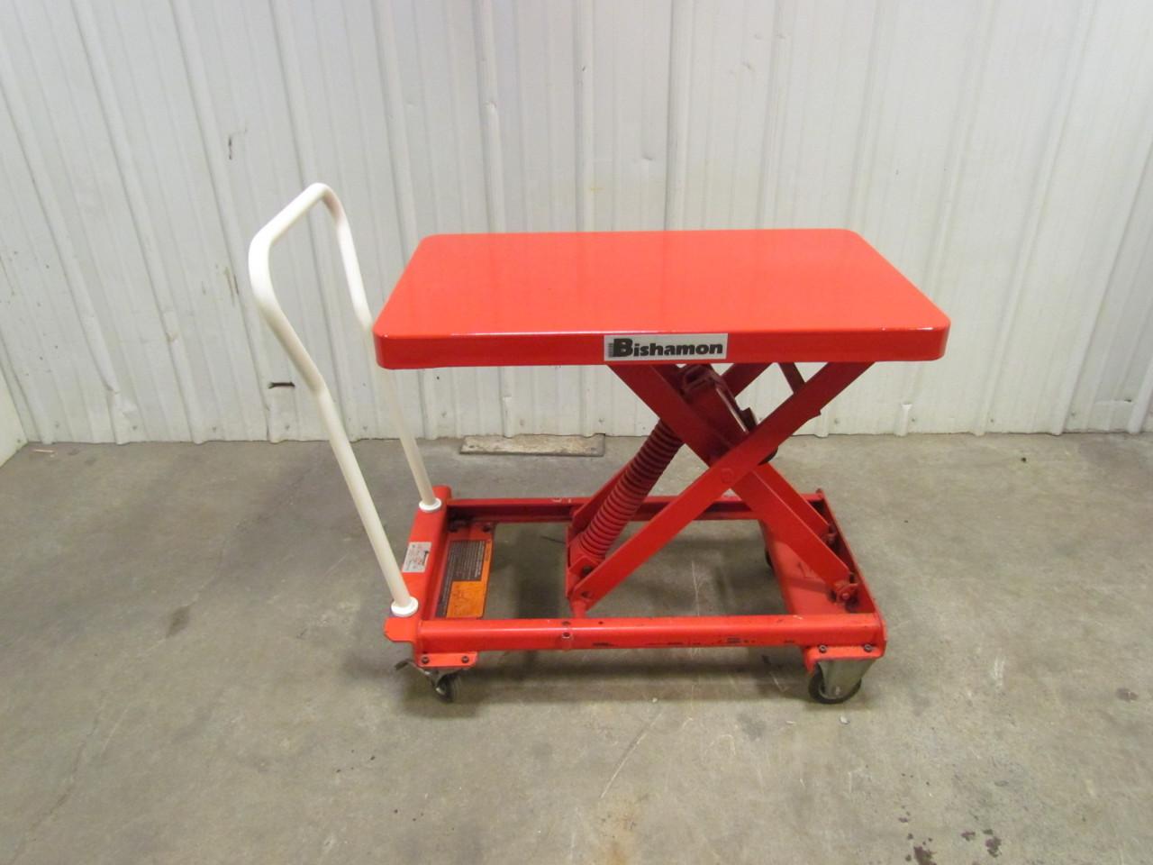 Self Leveling Tables : Bishamon esx self leveling spring scissor lift cart