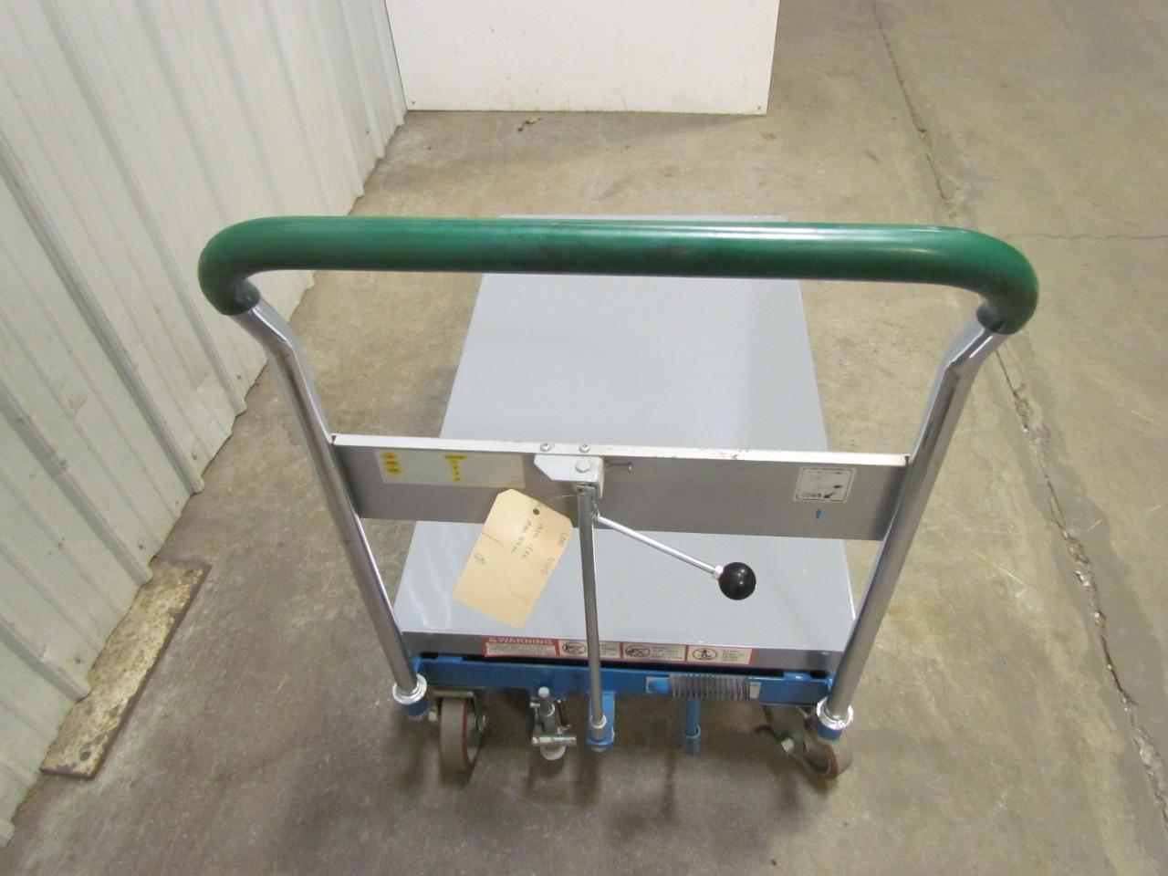 Hydraulic Scissor Lift Carts : Dandy a hydraulic scissor lift table cart lb load