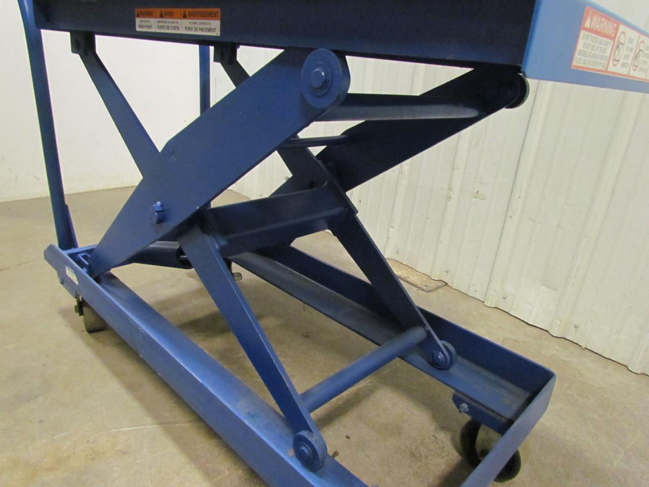 Self Leveling Tables : Heavy duty self leveling scissor lift cart quot x table