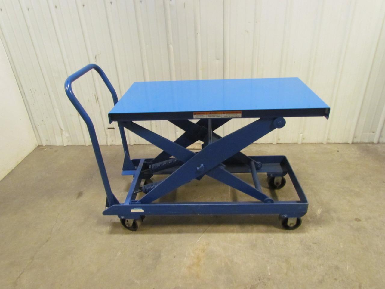 heavy duty self leveling scissor lift cart 20 x40 table size 32 height ebay. Black Bedroom Furniture Sets. Home Design Ideas