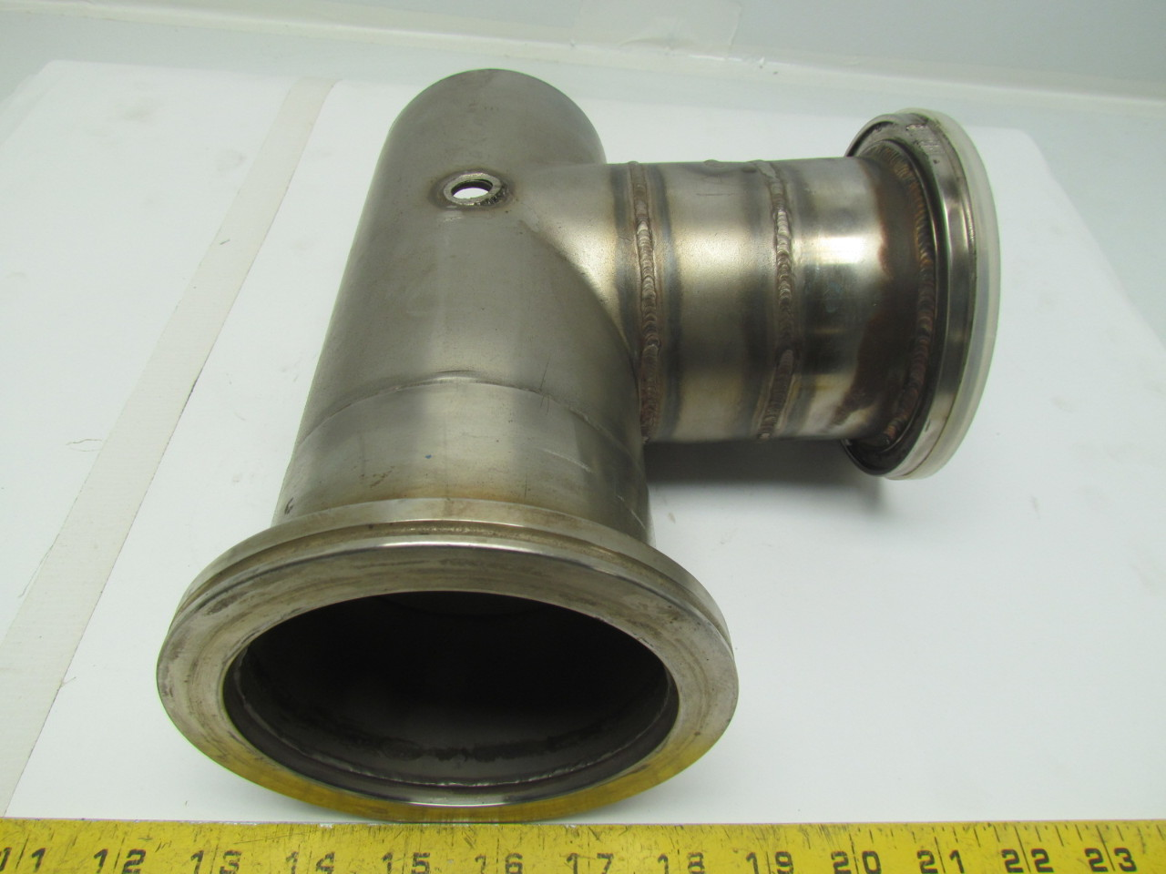 Quot clamp style stainless steel sanitary pipe tee fitting