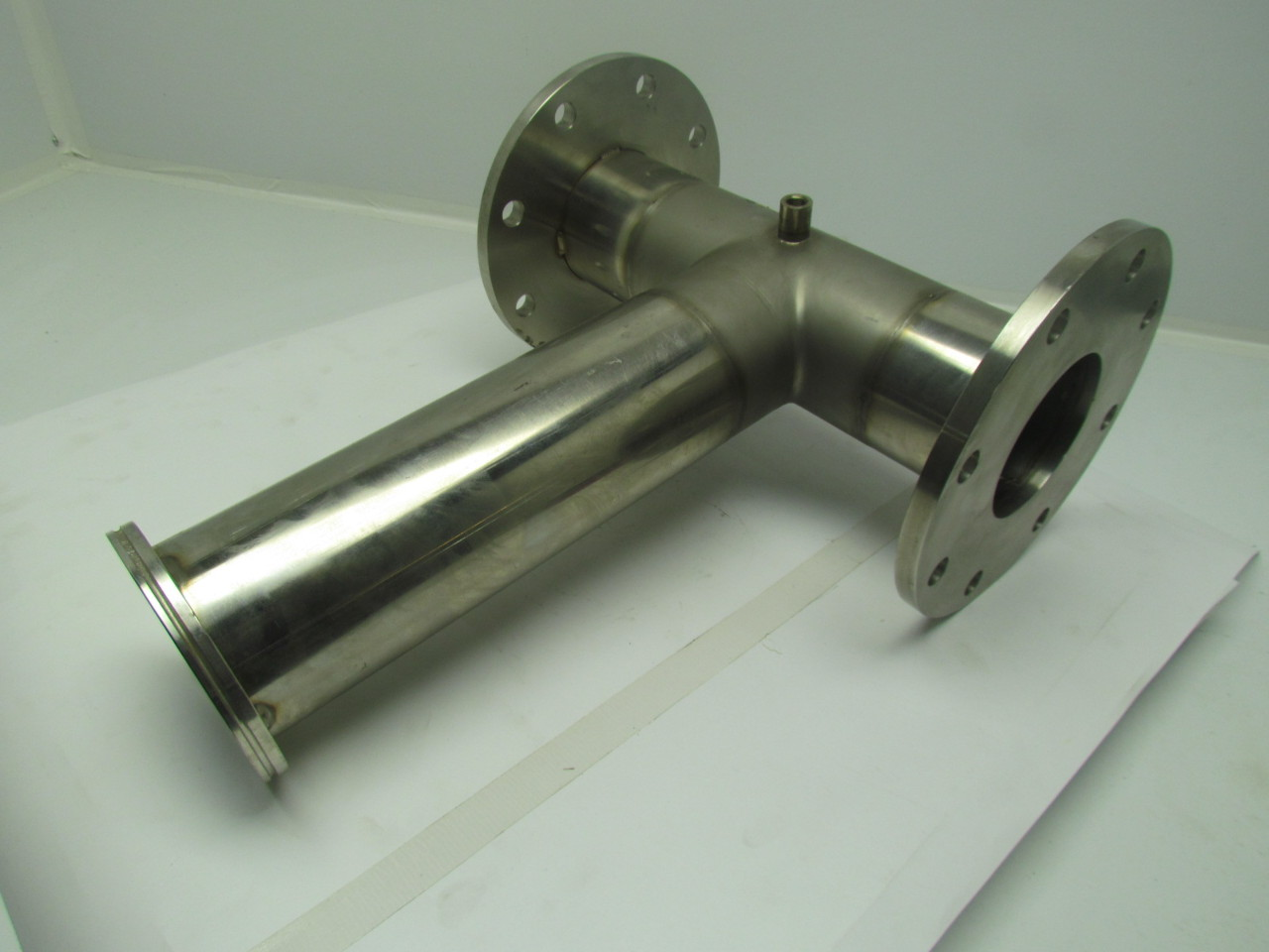 Quot stainless steel sanitary pipe tee fitting assembly ebay